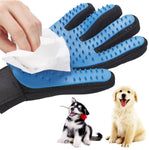 SiliconeSilicone Dog Pet brush Glove Deshedding Gentle Efficient Pet Grooming Glove Dog Bath Cat cleaning Supplies Pet Glove Dog combs