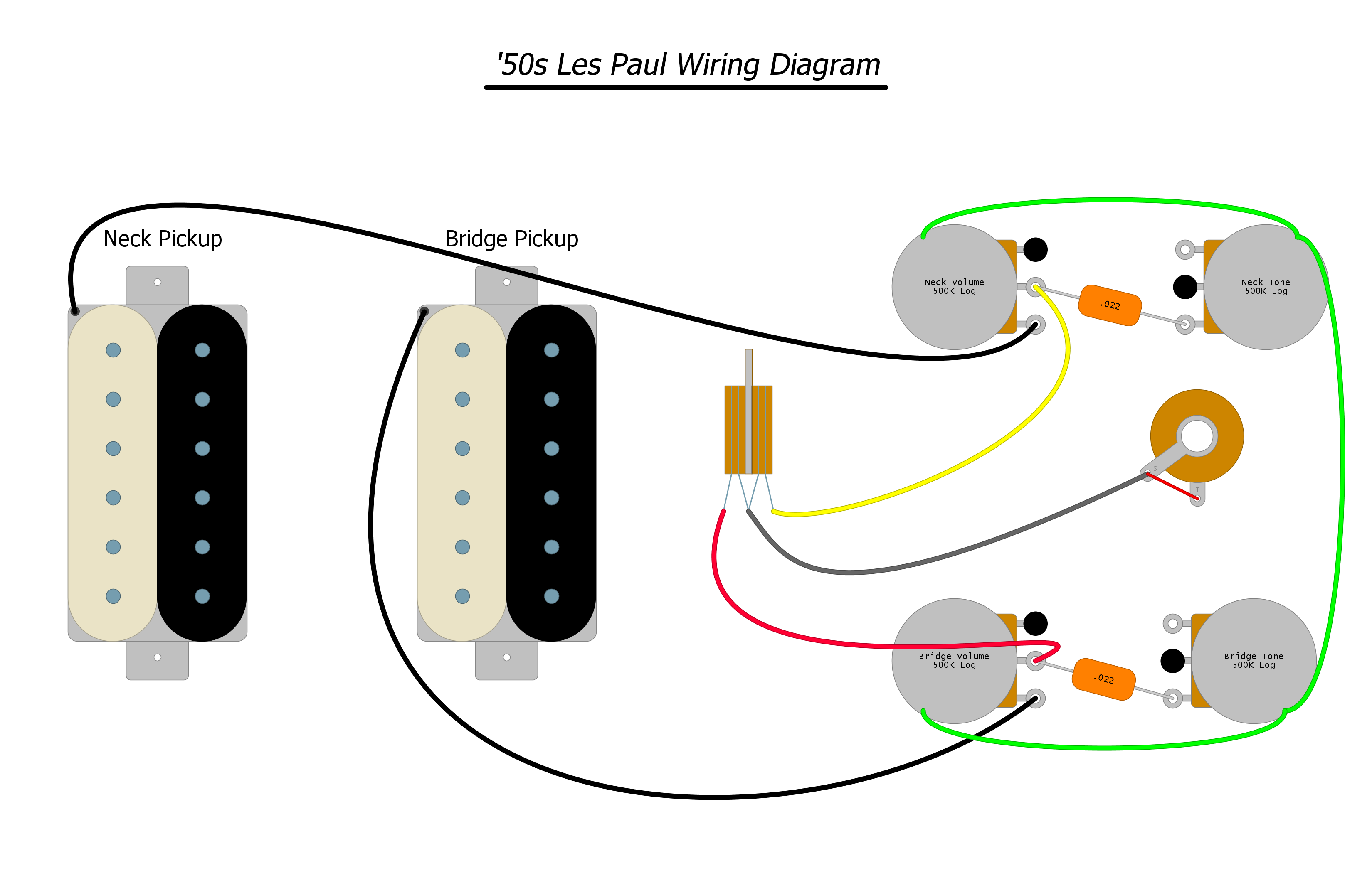 Les Paul Style Pre Wired Instructions Lil Huddys Guitar Shop Details About Electric Prewired Wiring Harness Pickup Volume