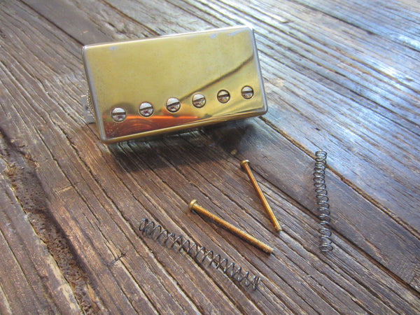 "Gibson USA 498T AlNiCO V Bridge Humbnucker | Gold Cover, 11"" Vintage Lead, 14.17 kΩ DCR"
