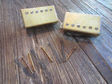 Gibson USA 498T + 490R Humbucker Set | Gold Finish, Long Leads, Springs & Screws
