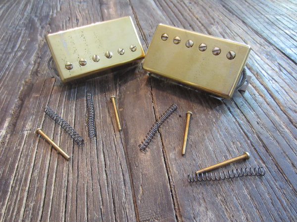 Gibson USA 490R + 498T Humbucker Set | Gold Finish, Long Leads, Springs & Screws