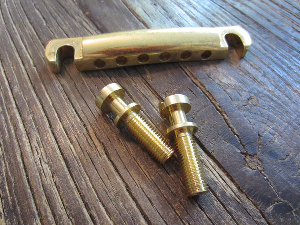Gibson USA Stop Bar w/ Studs | Gold Finish, Natural Light Wear/Tarnish