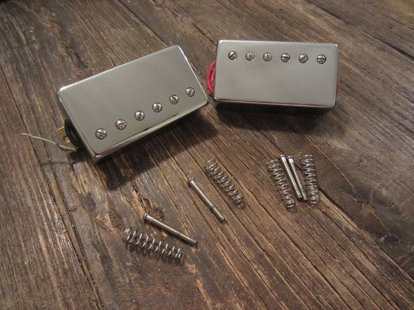 Epiphone Humbucker Set w/ Chrome Covers | HOTCH & 57CH, Long Leads w/ Springs & Screws