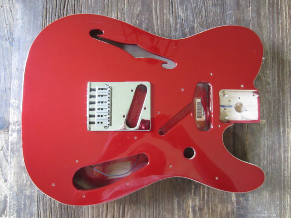 2017 Fender Thinline Deluxe Telecaster Body + Hardware | Candy Apple Red