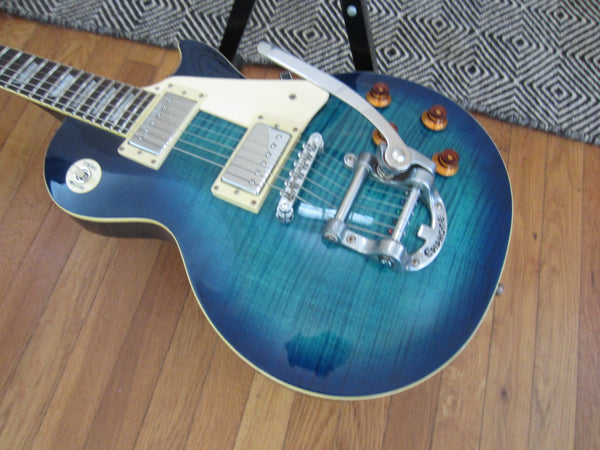 Fresh Re-Wire | 2001 Epiphone Les Paul Limited Edition Bigsby | Blue Flame Burst, Bourns, Switchcraft, Zoso Caps
