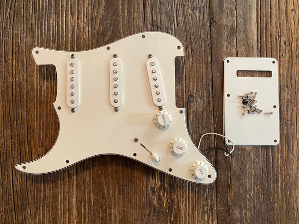 2009 Fender Standard Series Stratocaster Loaded Pickguard | Mounting Screws, Rear Tremolo Cover