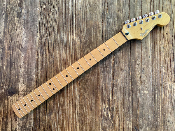 1999 Fender Standard Series Stratocaster Neck + Tuners | Maple, Vintage Frets