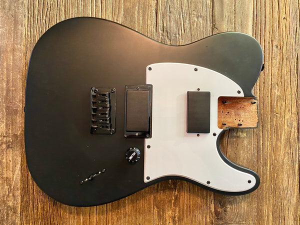 2016 Squier by Fender Jim Root Telecaster Loaded Body | Satin Black, Mahogany