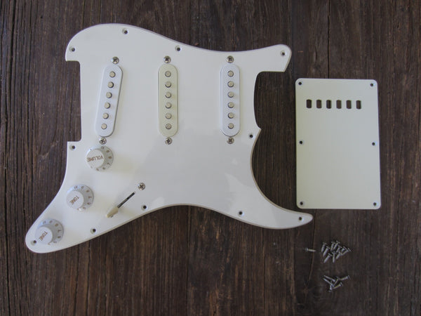 Squier by Fender Affinity Series Stratocaster Loaded Pickguard | Single-Ply White, SSS