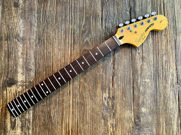 "2006 Squier by Fender Jagmaster Neck + Tuners | Rosewood Board, 24"" Scale"
