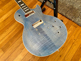 Neck Crack 2018 Gibson USA Les Paul Classic Player Plus Body | Ocean Blue, P90