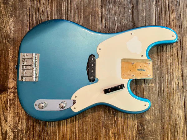 2008 Squier by Fender Classic Vibe 50s Precision Bass Loaded Body | Lake Placid Blue