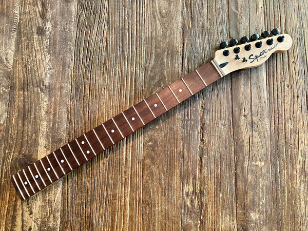 "2013 Squier Bullet Telecaster Neck + Tuners | 25.5"" Scale, 22-Fret Rosewood Board, 9.5"" Radius"