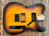 2013 Squier Bullet Telecaster Body + Hardware | HH, 3-Tone Sunburst, 3.5 lbs,