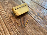 "2001 Gibson USA 490R Neck Humbucker | Gold Cover, 12"" Braided Lead, 7.69 kΩ DCR"