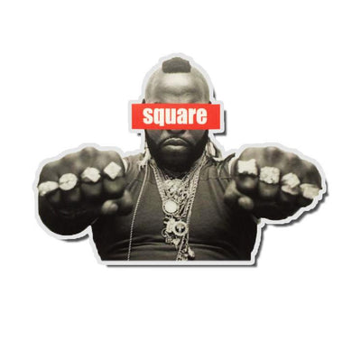 Mr. T Honor Roll Sticker - Square Bear