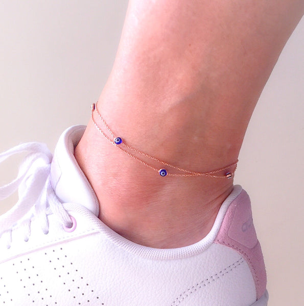 Handmade Evil Eye Charm Anklet Foot Jewelry
