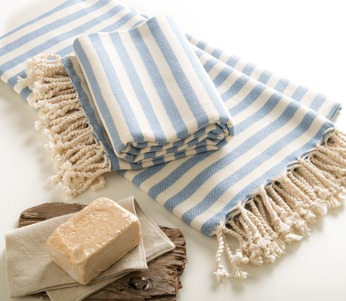 Handmade Cotton Beach Towel Turkish Towel Ada - Babazen