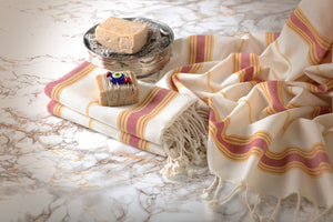 Handmade Cotton Beach Towel Spa Towel Turkish Towel Ingres - Babazen