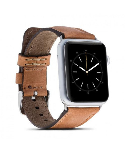 Leather Apple Watch Strap, Tan Color