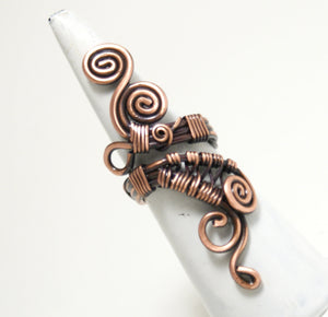 Handcrafted Copper Ring, Artisan Handmade - Babazen