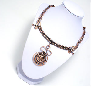 Handmade Copper Necklace, Wire Wrapped - Babazen