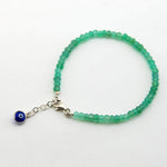 Handmade Green Garnet Beads Stacking Bracelet - Babazen