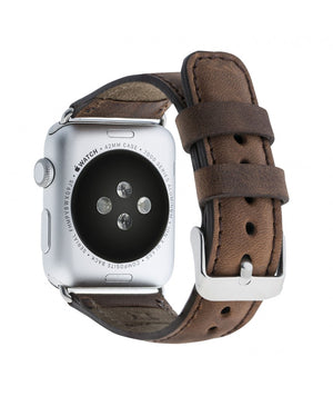 Leather Apple Watch Strap, Antic Brown - Babazen