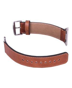 Handmade Genuine Leather Apple Watch Strap, Tan Color - Babazen