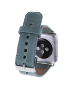 Leather Apple Watch Strap, Sea Green - Babazen