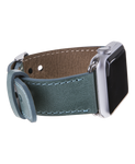 Handmade Genuine Leather Apple Watch Strap, Sea Green - Babazen