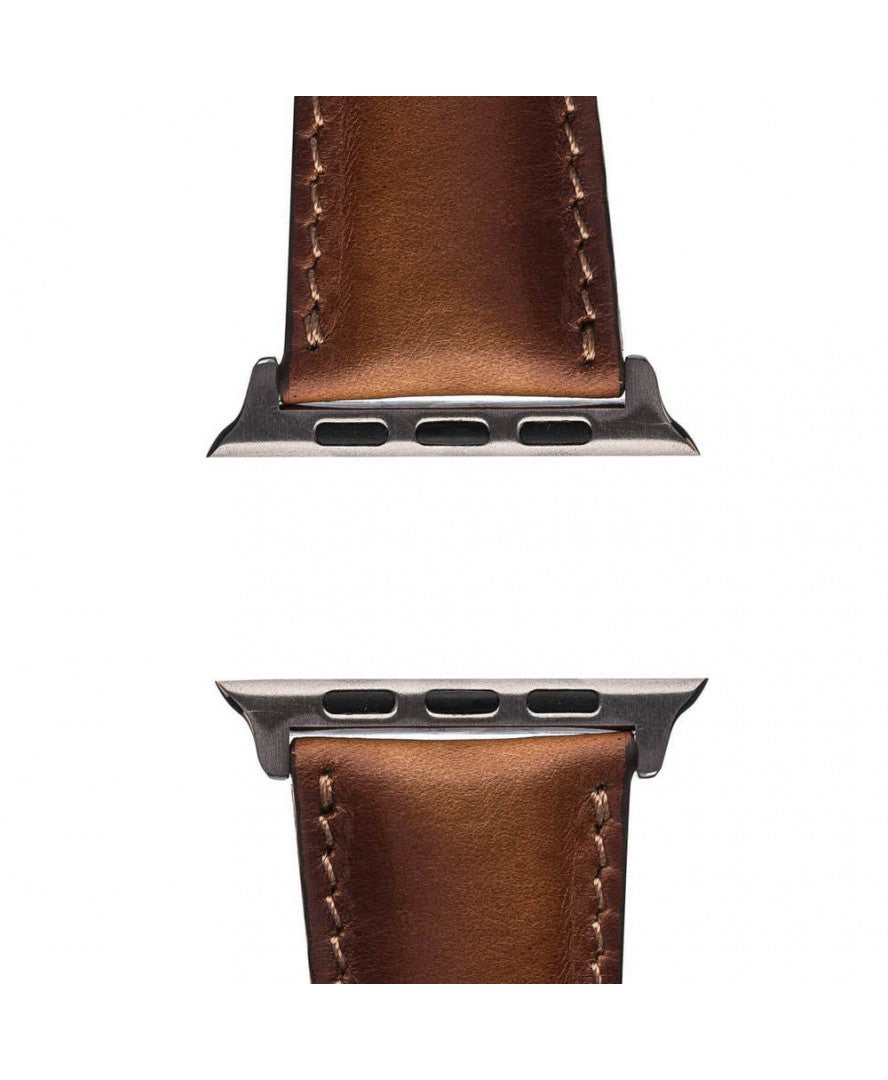 Leather Apple Watch Strap, Brown - Babazen