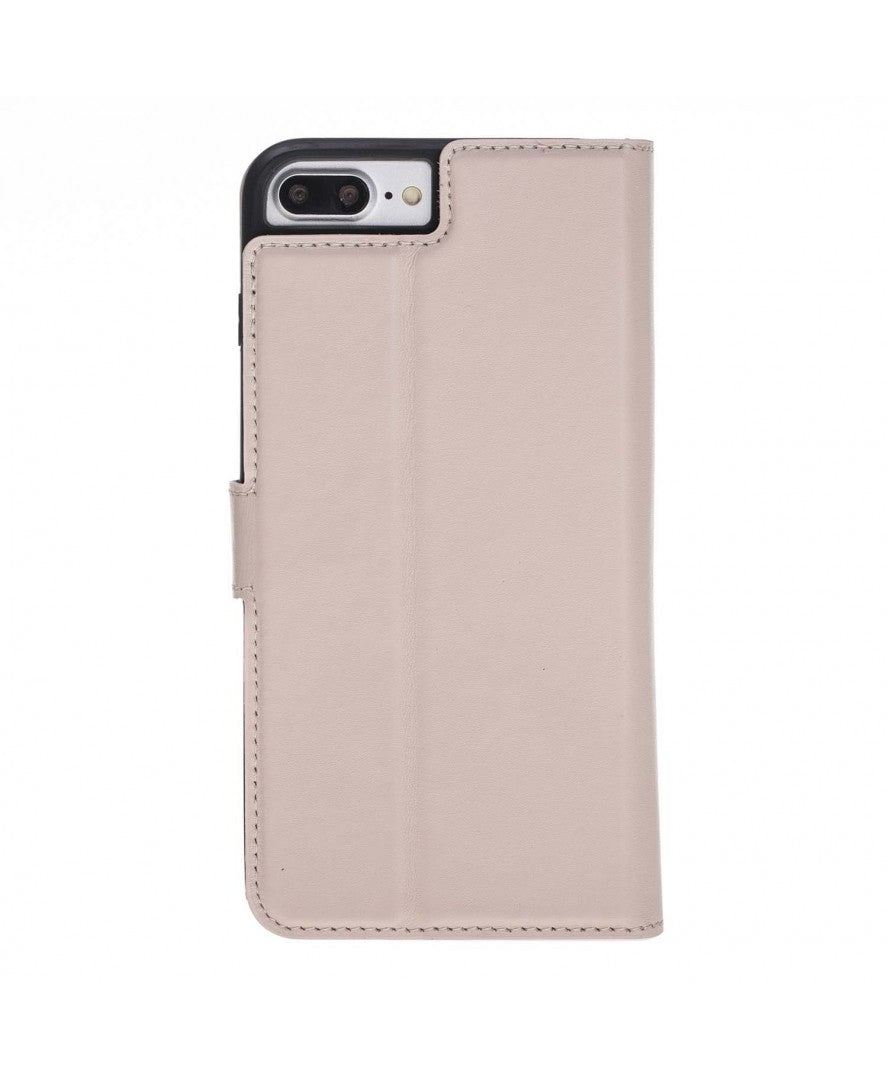 Leather Detachable Wallet Case for iPhone 7/8, Pink - Babazen