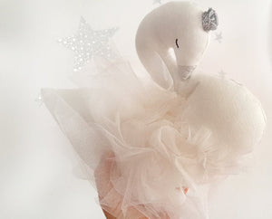 Handmade Plush Swan Doll stuffed swan Nursery decor Wedding decor - Babazen