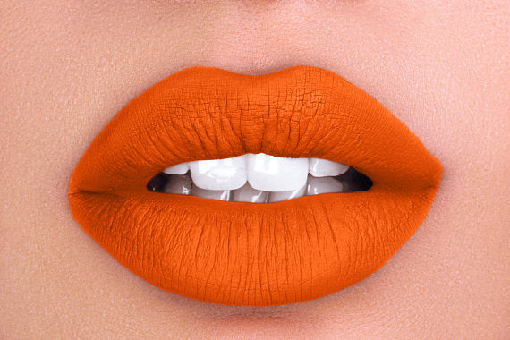 Matte Liquid Lipstick, cruelty free makeup, Sweet Orange - Babazen