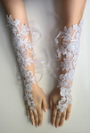Handcrafted French Lace Wedding Gloves - Babazen
