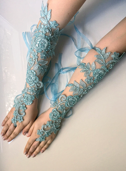 Handmade French Lace Wedding Gloves