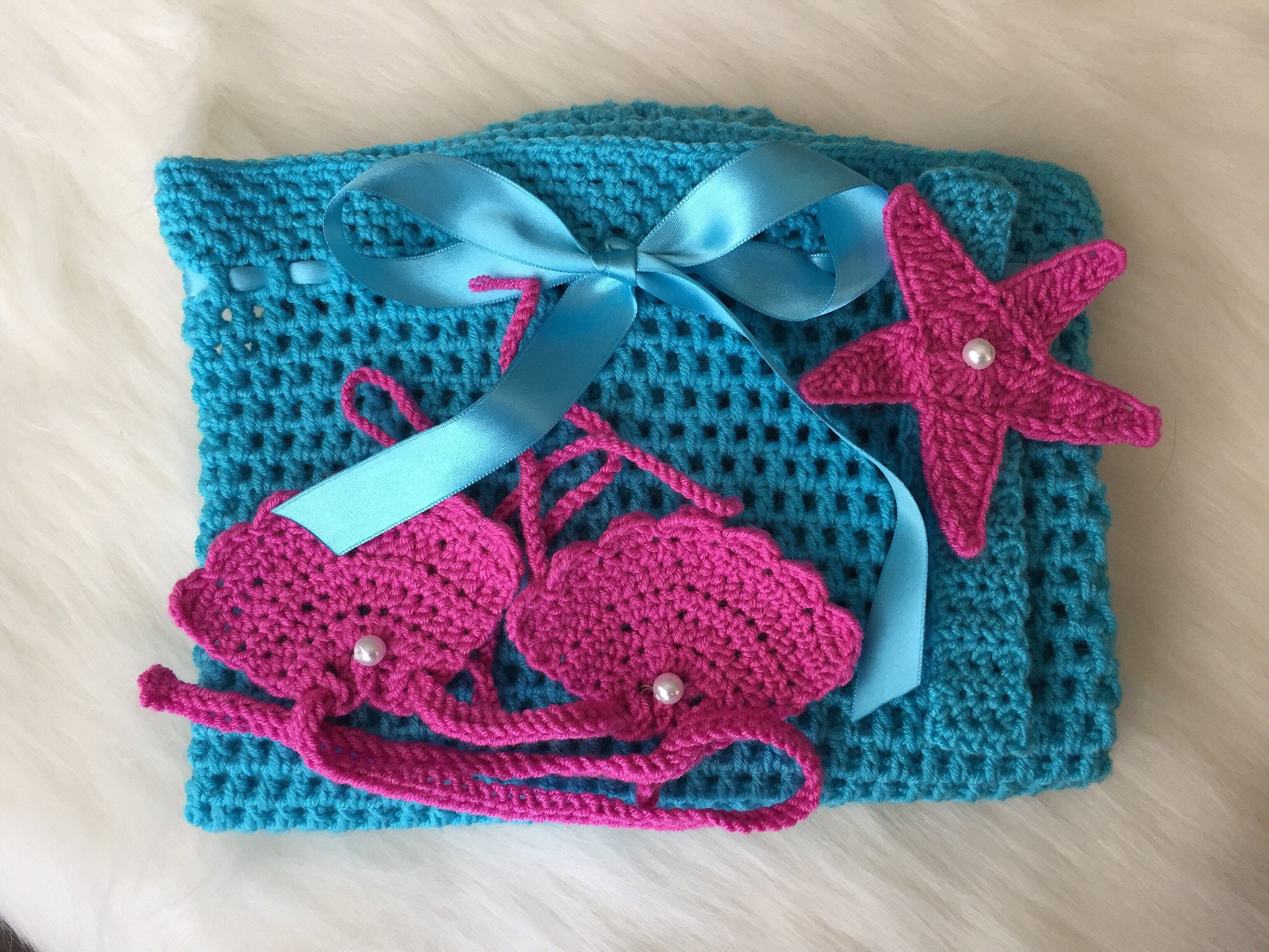 Handmade Mermaid Crochet Baby Costume - Babazen