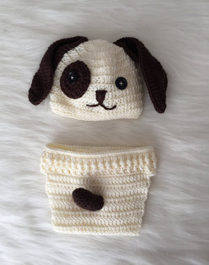 Handmade Baby Hat & Knit Diaper Cover Doglover - Babazen