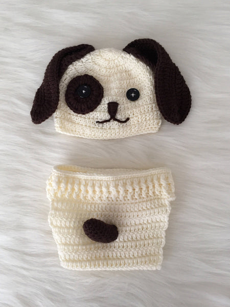 Handmade Baby Hat & Knit Diaper Cover Doglover