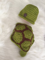Handmade Newborn Turtle Costume, Baby Photo Props - Babazen