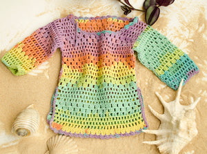 Handmade Toddler Crochet Beach Cover Knit Tunic - Babazen
