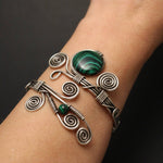 Handmade Malachite Wire Wrapped Bracelet - Babazen
