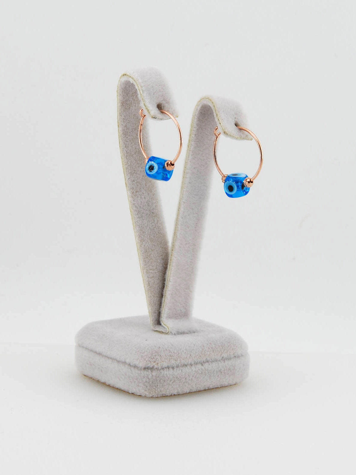 Handmade Minimalist Ear Cuffs, Evil Eye Earrings - Babazen