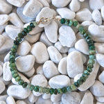 Handmade Raw Emerald Beads Stacking Bracelet - Babazen