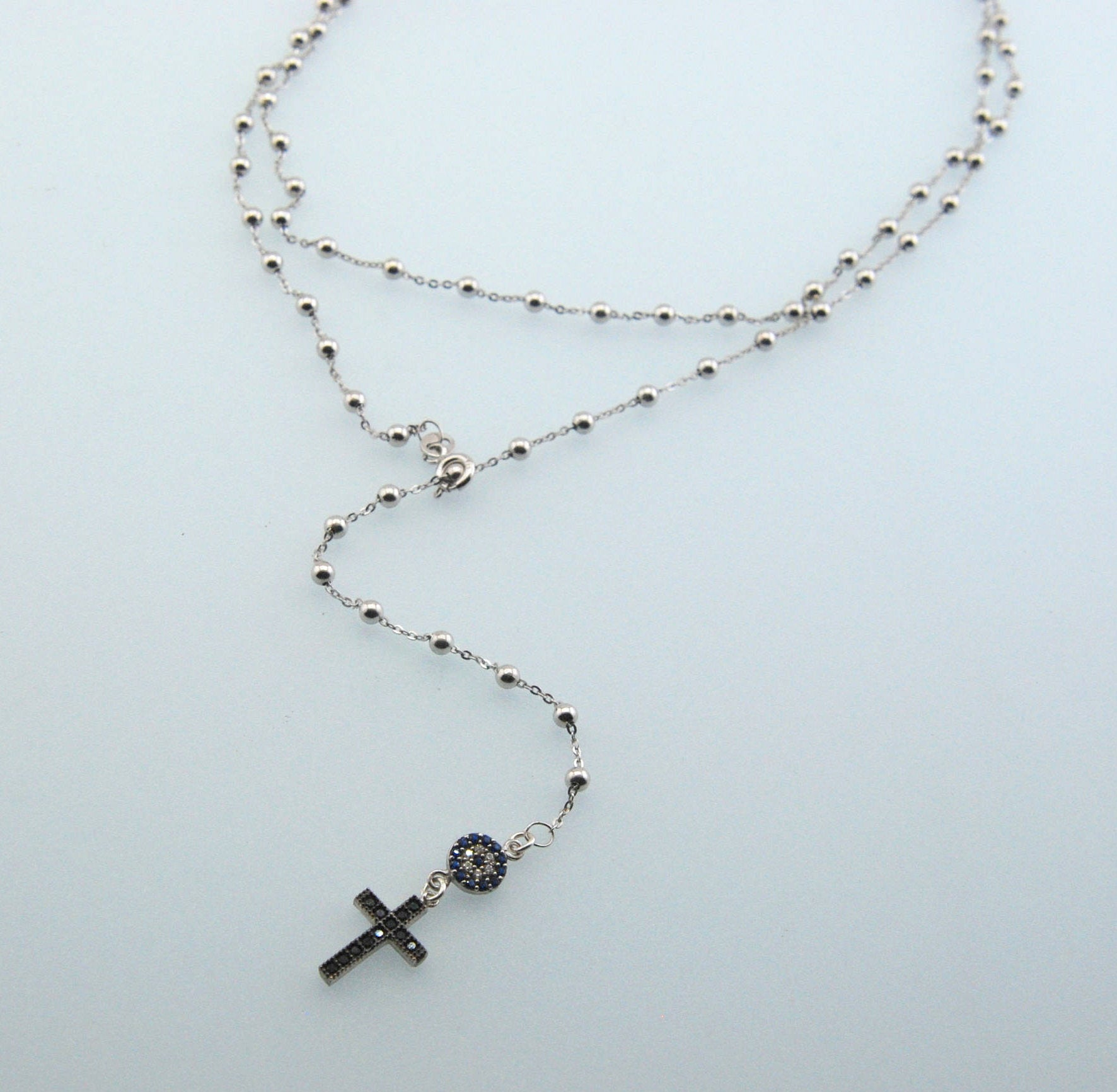 Handmade Evil Eye Protection Cross Necklace - Babazen