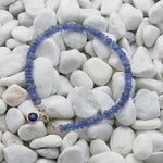 Handmade Tanzanite Gem Evil Eye Bead Stacking Bracelet - Babazen