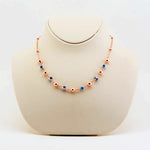 Handmade Evil Eye Necklace, Rose Gold Plated Sterling Silver - Babazen