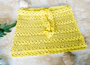 Handmade Crochet Mini Skirt Bikini Cover Up - Babazen