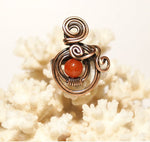 Handmade Copper Wire Sunstone Ring - Babazen